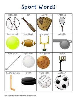 sport words 1st grade activities kindergarten writing english activities learn english. Black Bedroom Furniture Sets. Home Design Ideas