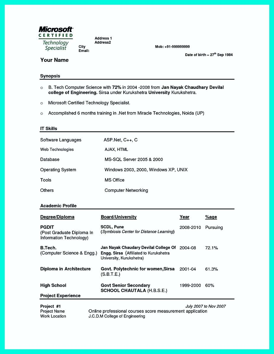 cool The Perfect Computer Engineering Resume Sample to Get