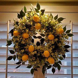Photo of Faux eucalyptus wreath, green wreath, front door wreath, spring wreath, summer wreath, everyday wreath, year-round wreath for front door