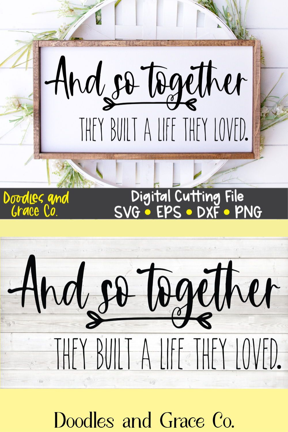 Download And So Together They Built a Life They Loved SVG   family ...
