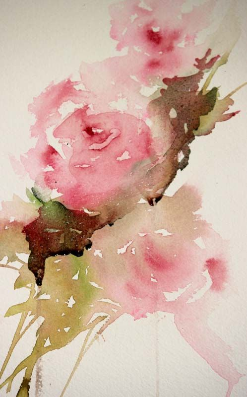 Painting Roses In A Loose Style Foliage Loose Watercolor