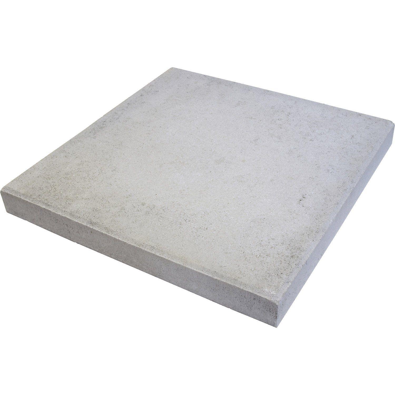 Dalle Beton Provencale Gris L 50 X L 50 Cm X Ep 50 Mm Dalle Beton Dalle Beton Terrasse Dalle Exterieur