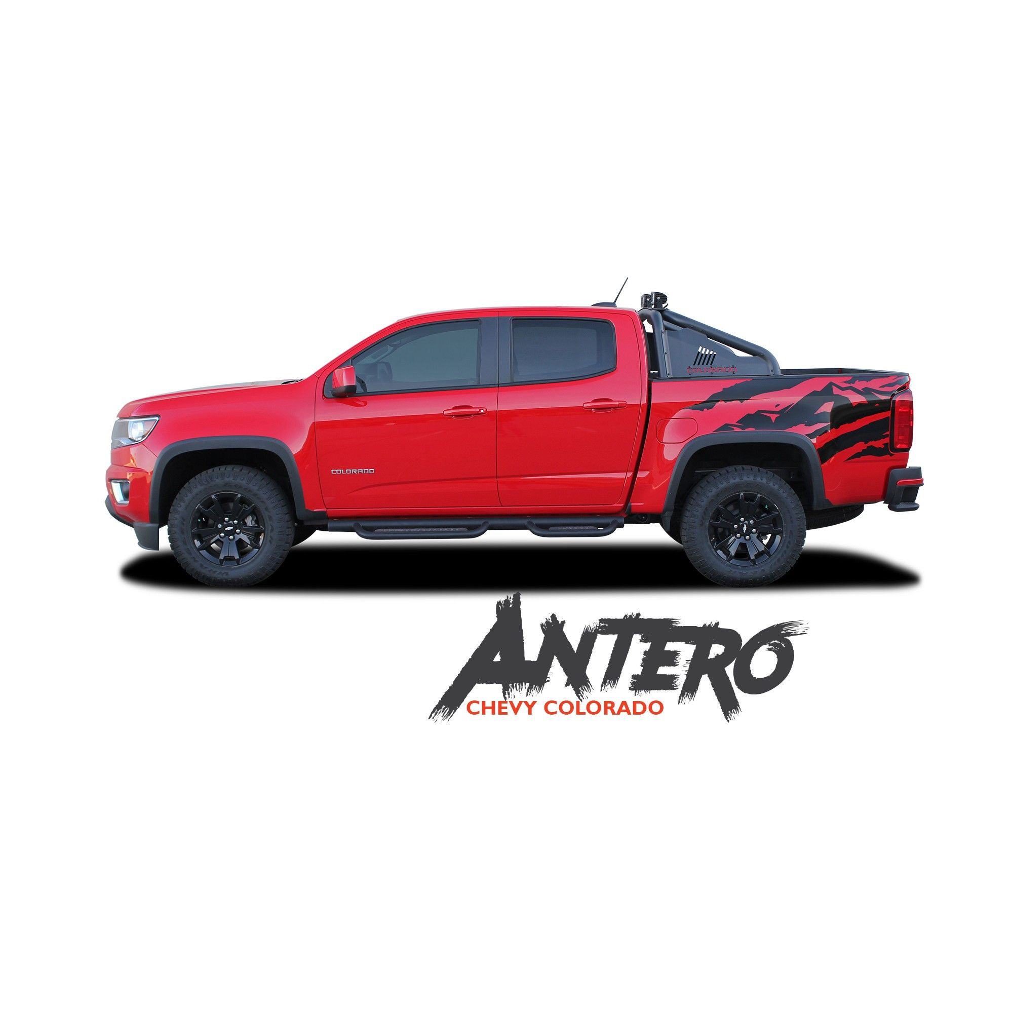 Chevy Colorado Graphics Antero Rear Truck Bed Accent Vinyl Decal Stripe Kit 2017 2016 2018