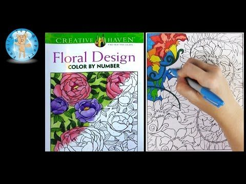 Creative Haven Floral Design Color By Number Adult Coloring Book Review