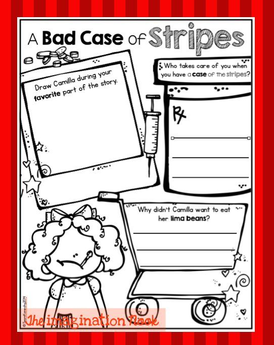A Bad Case Of Stripes Bad Case Of Stripes Elementary Reading