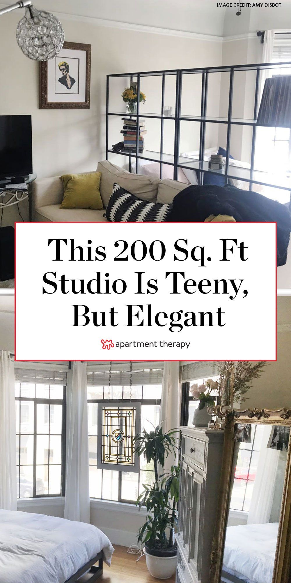 A 200 Square Foot San Francisco Studio Is Teeny But Elegant In 2020 Apartment Layout Studio Apartment Layout Tiny Studio Apartments