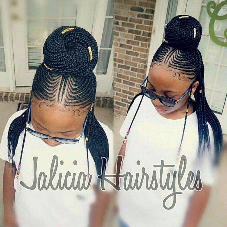 Braided Bun W Back Hanging Natural Hair Styles Hair Styles Cool Braid Hairstyles