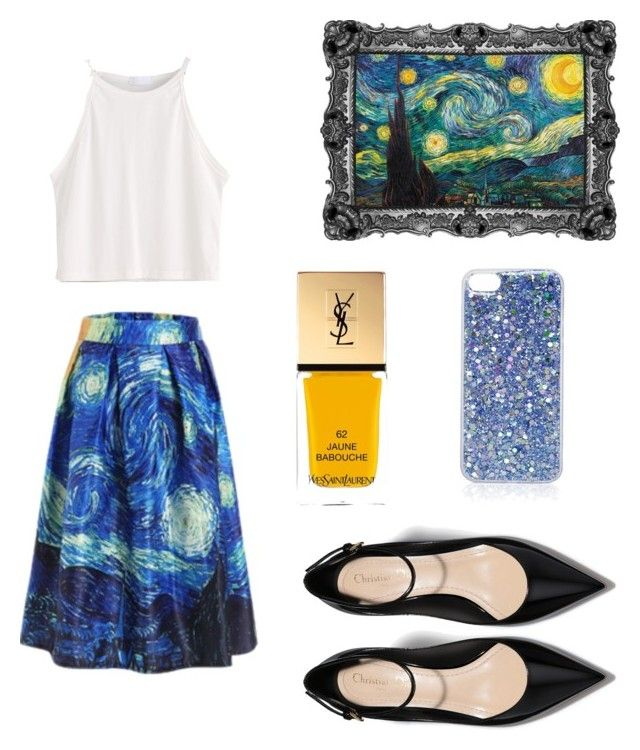 """Starry Night"" by churchgirl1205 ❤ liked on Polyvore featuring Yves Saint Laurent and Topshop"