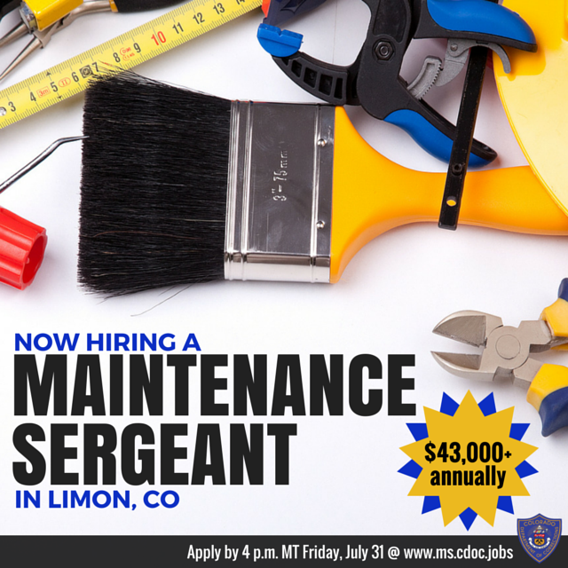 REMIER CAREER OPPORTUNITY We're hiring a Maintenance