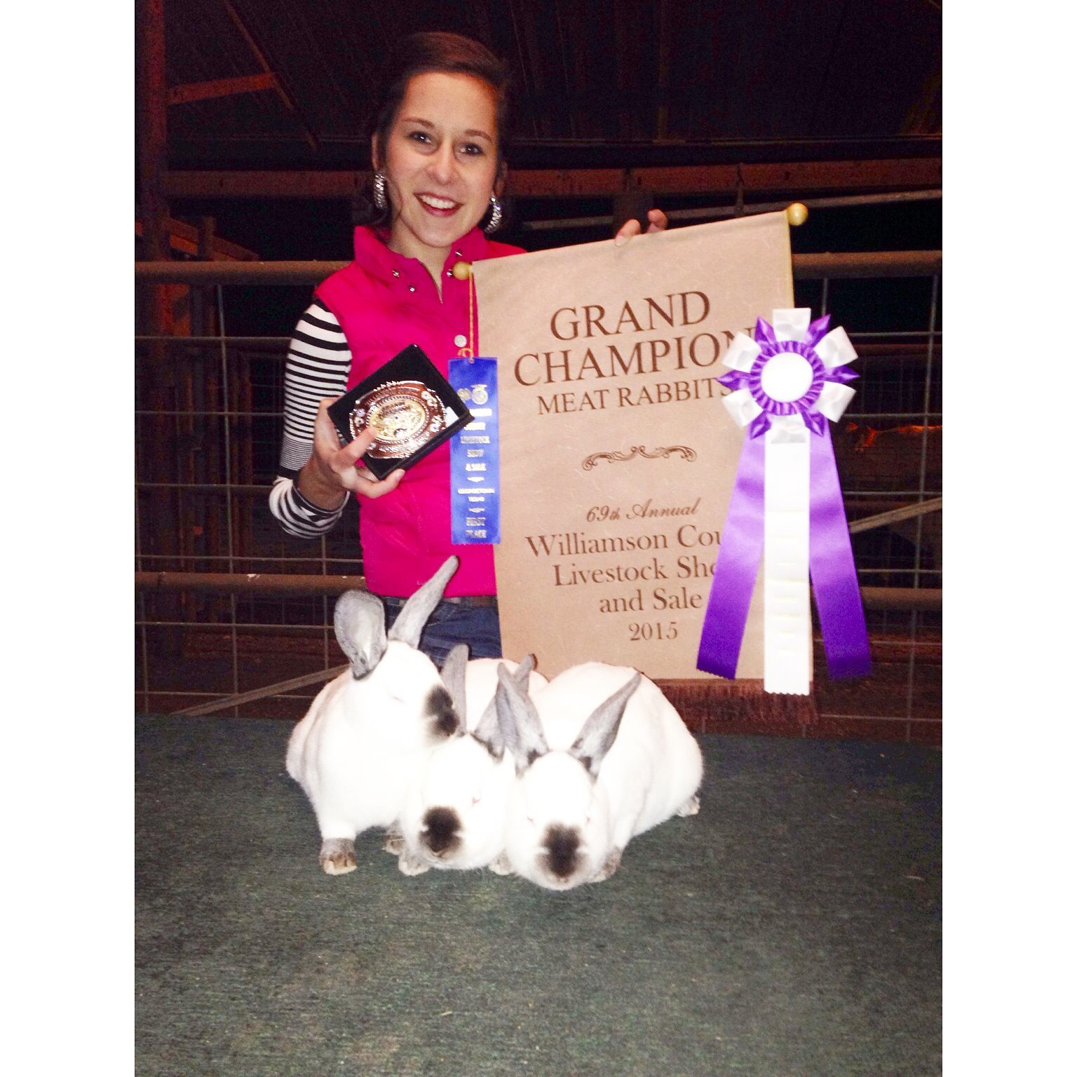 Another Grand Champion pen of rabbits from Busters Bunnies ...