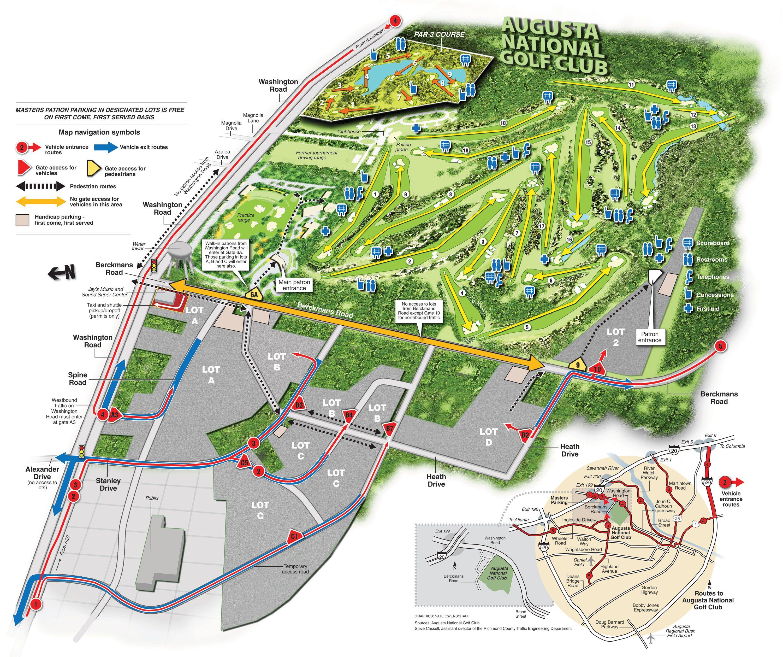 Campo de Golf en Augusta Augusta National Golf Course