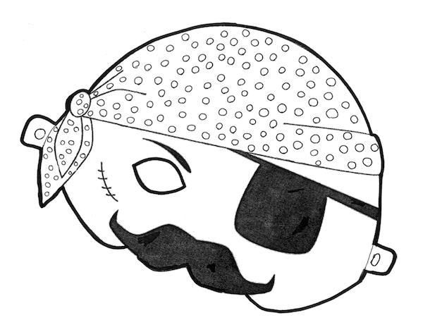 Free Printable Halloween Masks  Color and Print your own Pirate