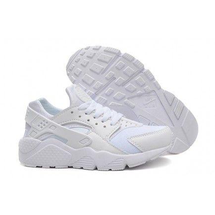 online retailer b51e0 54d90 ... discount code for nike air huarache womens mens all white 493dd 59cab  ...