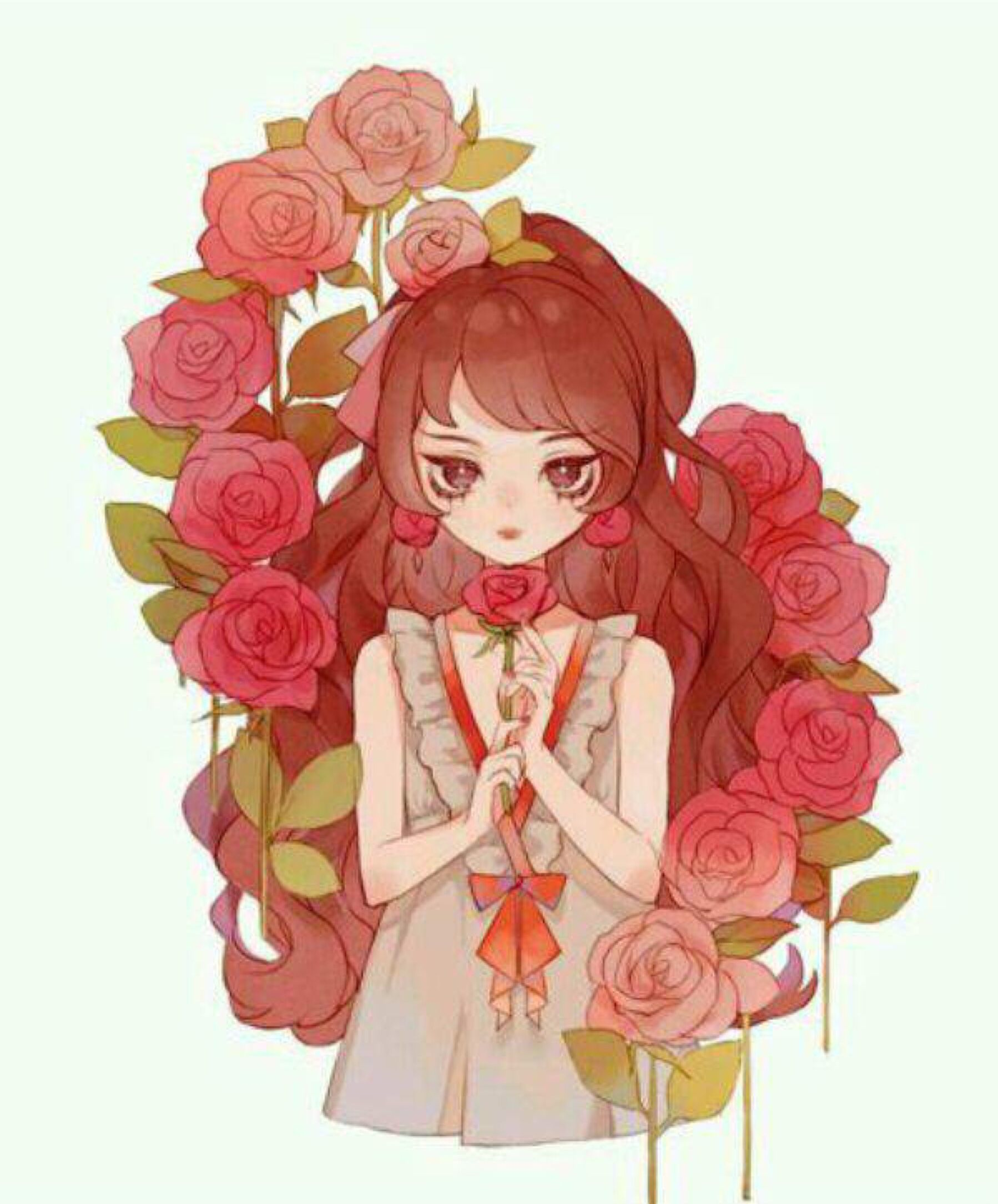 Pin by 𝗔𝗹𝗶𝗰𝗲੭. on Kawaii Anime  Anime flower, Anime art