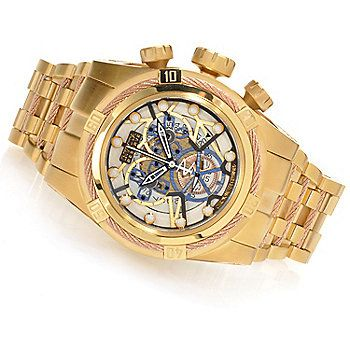 Invicta Reserve Mens Bolt Zeus Swiss Made COSC Quartz Chronograph Bracelet Watch