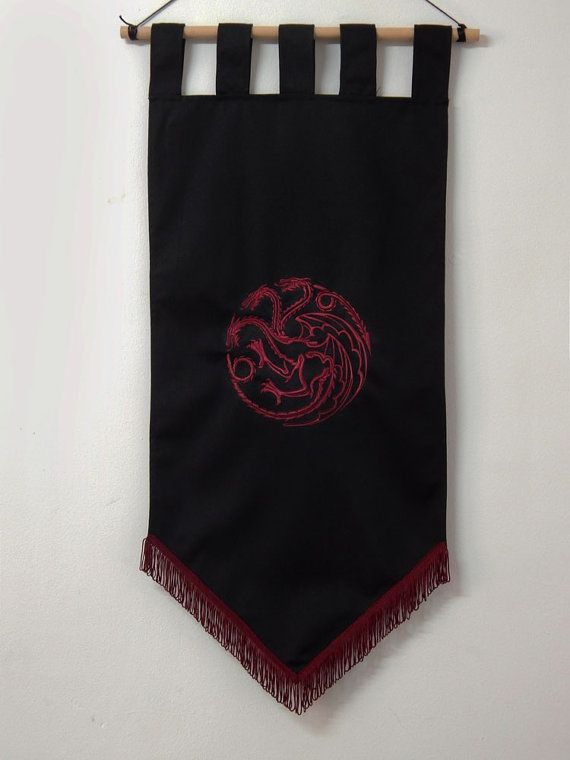 of thrones flag curtain house targaryen home decor and blood gift photo banner
