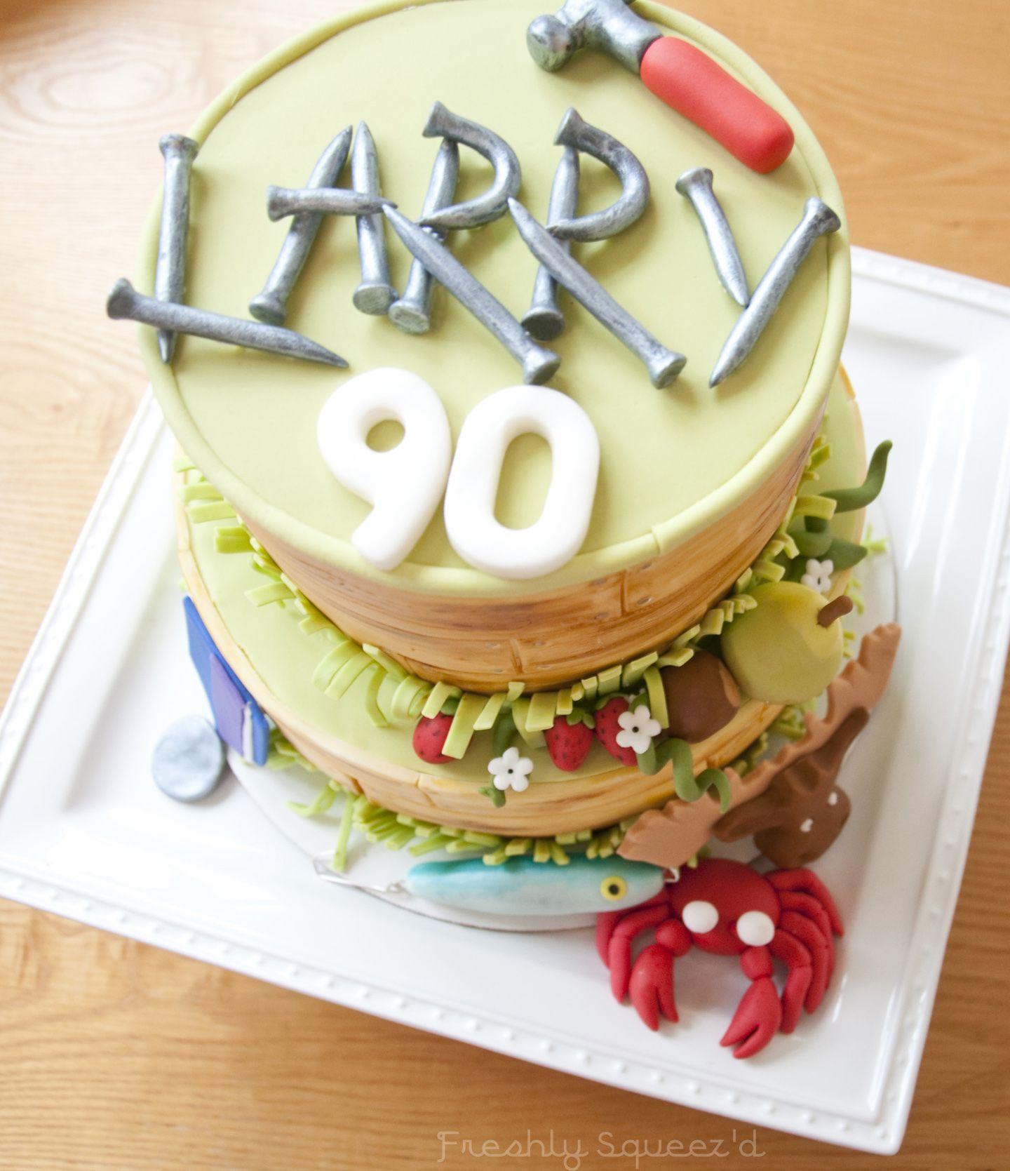 A Chocolate And Hazelnut 90th Birthday Cake For My Grandpa