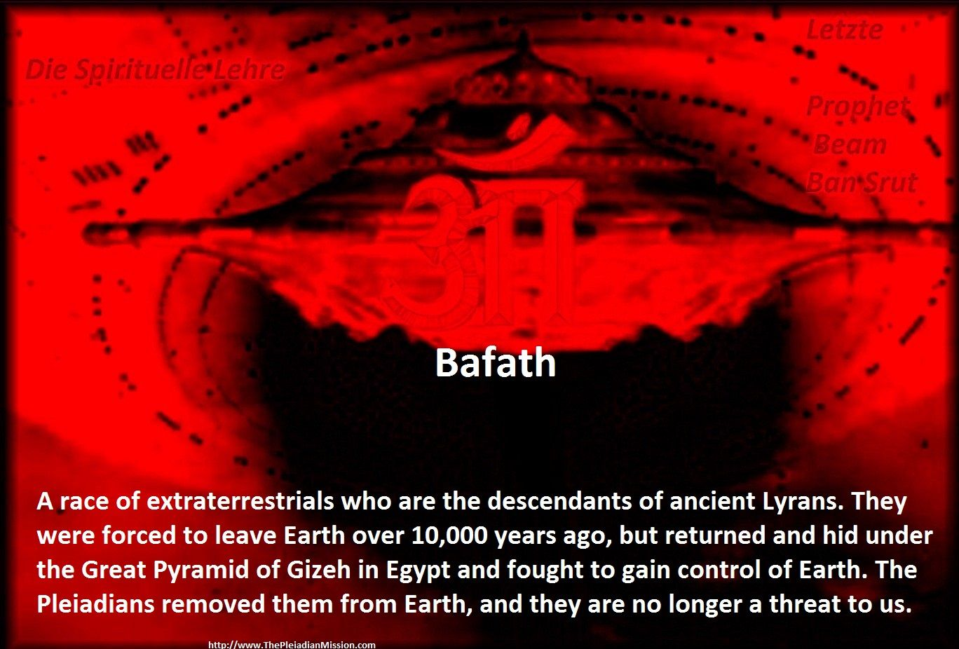 Bafath A race of extraterrestrials who are the descendants