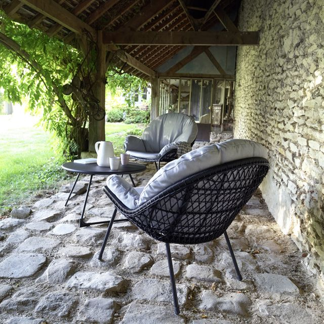fauteuil de jardin en rotin anya