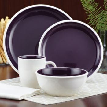 Rise Dinnerware Set Purple by Rachael Ray at Food Network Store If only it came in blue too! & Rachael Ray Rise 16-pc. Dinnerware Set @kohl\u0027s   gift ideas ...