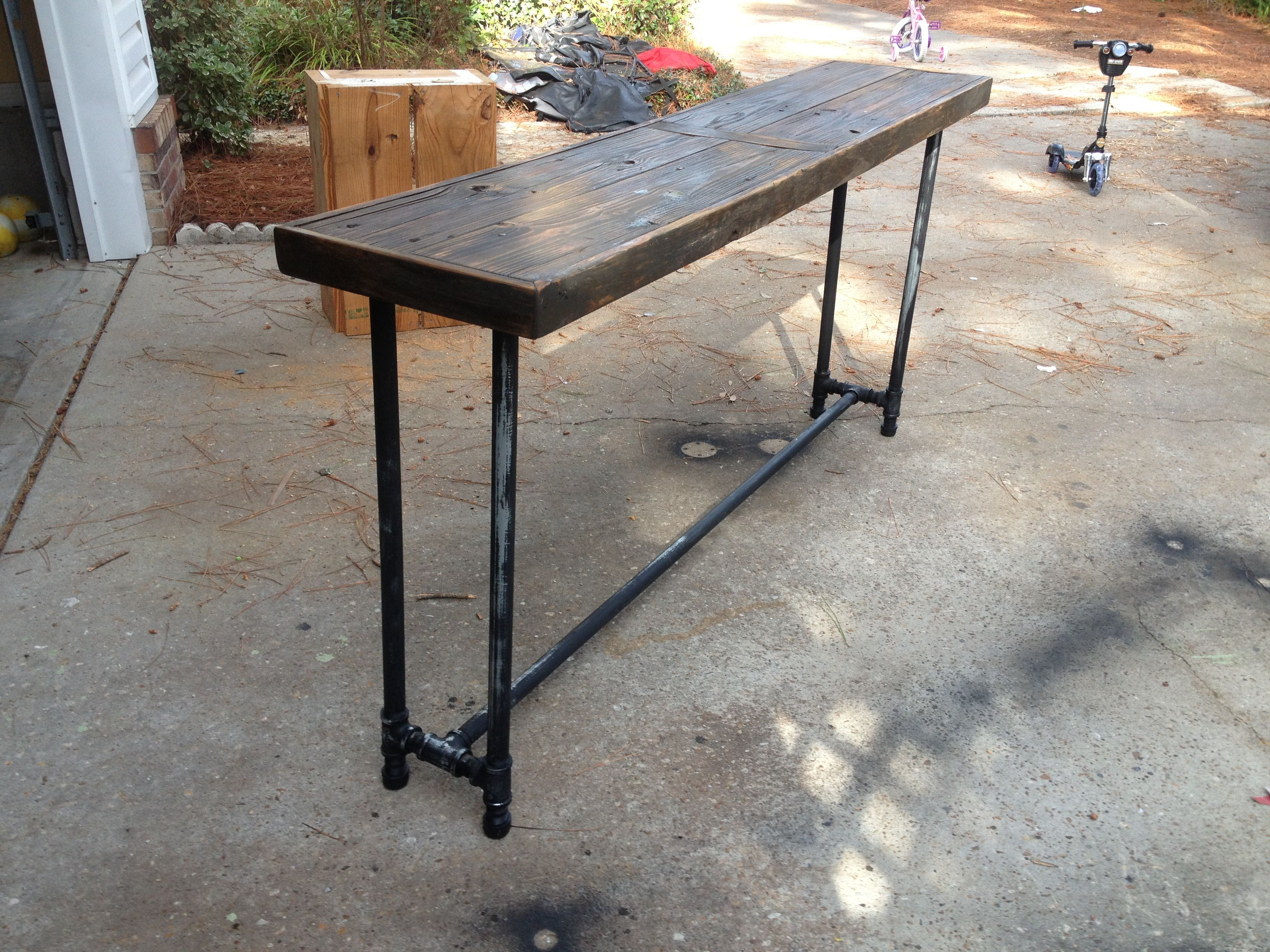 how to make a sofa table top build with wood washed ashore from the last hurricane