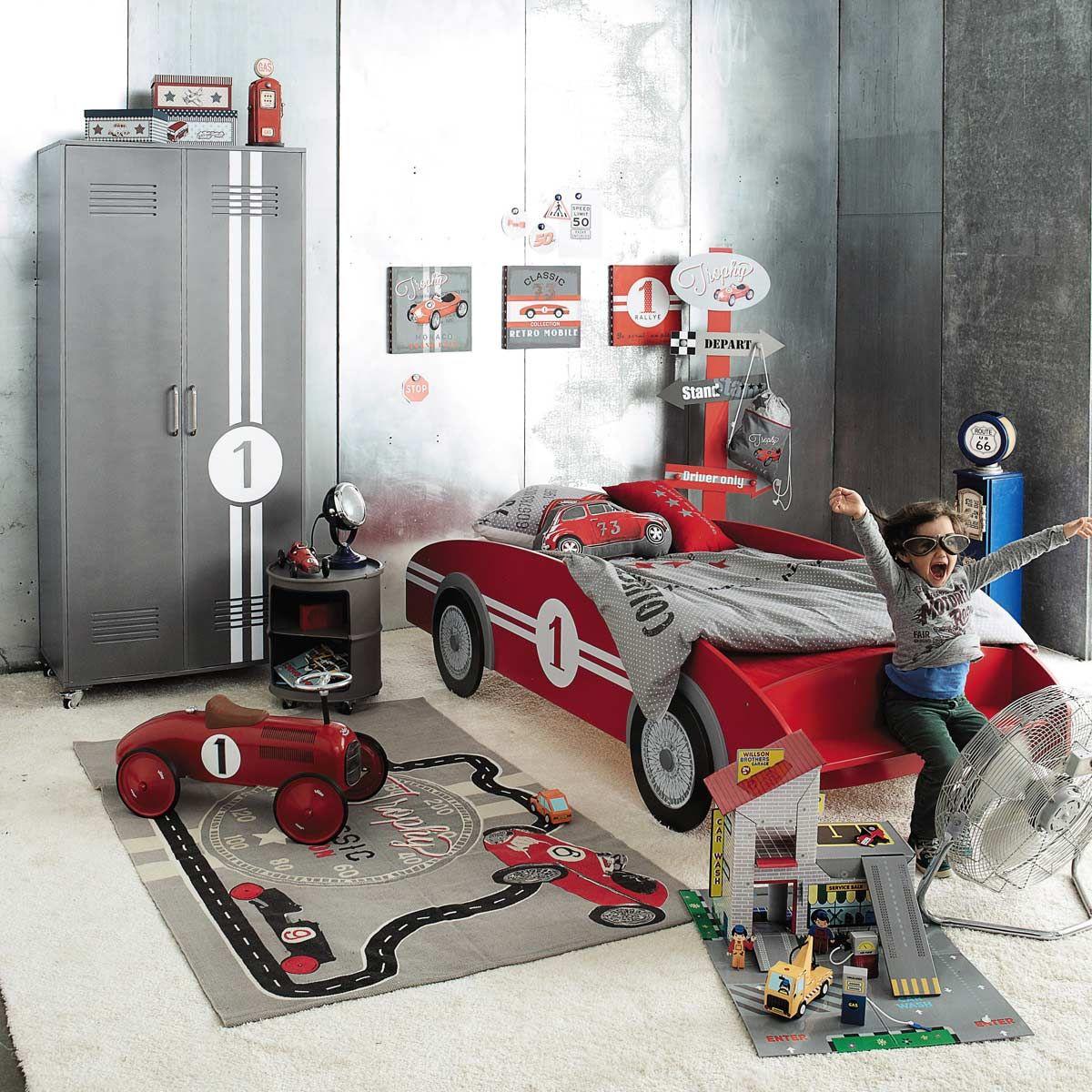 kinderbett auto rot circuit   styling huis   pinterest   kinderzimmer