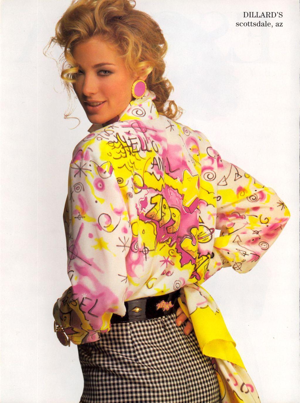 Escada Ad S S 1991 Feat Elaine Irwin Fashion 90s Runway Fashion Original Supermodels