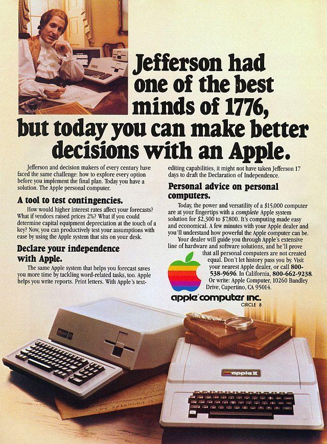Thomas Jefferson 1981 Apple II & III