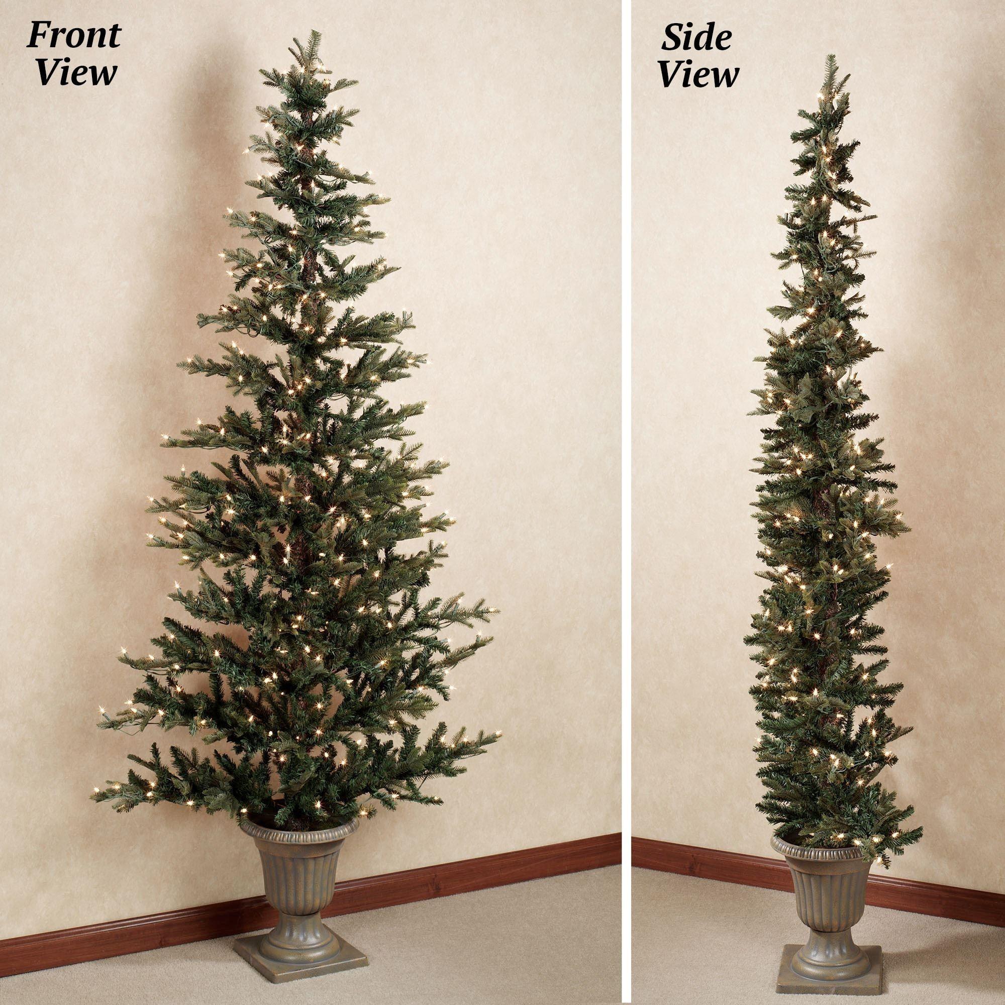 Flat Back Christmas Tree Ideas On Foter Flat Christmas Tree Small Space Christmas Tree Christmas Tree In Urn