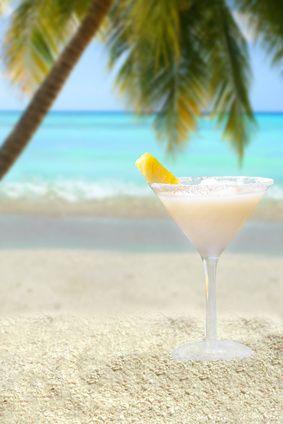 Pina Colada (2 oz light rum  2 oz coconut cream  2 oz pineapple juice  crushed ice)