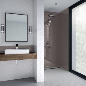 Splashwall Hessian Single Shower Panel L 2440mm W 600mm T 4mm Products In 2019 Shower Panels Bathroom Wall Panels Bathroom Paneling