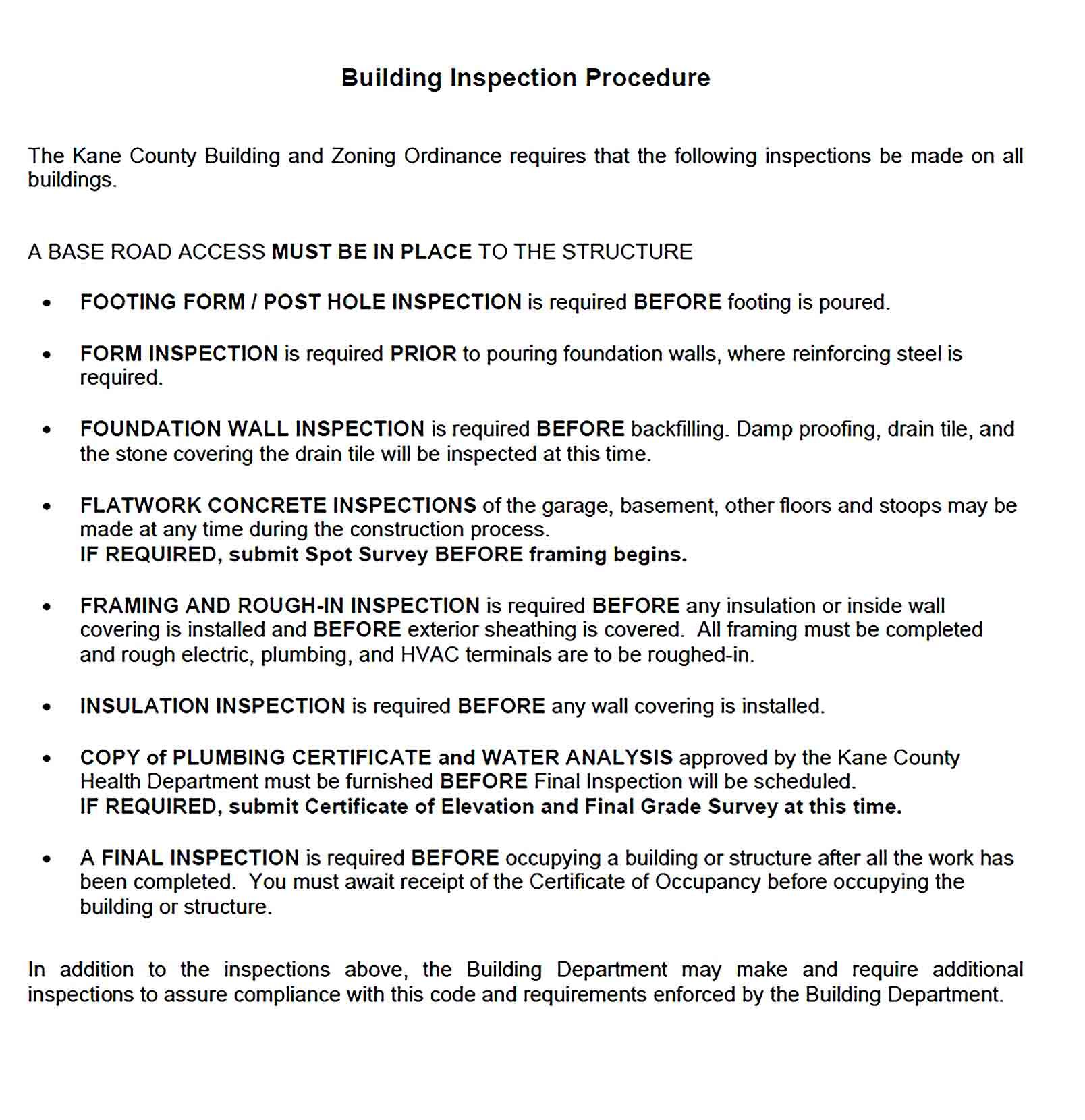Building Report Template Report Template Templates Business Template