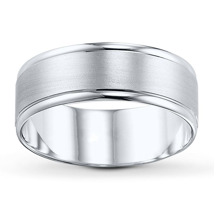 Jared Men S Band 10k White Gold Engagement Rings Wedding Rings Womens Wedding Bands