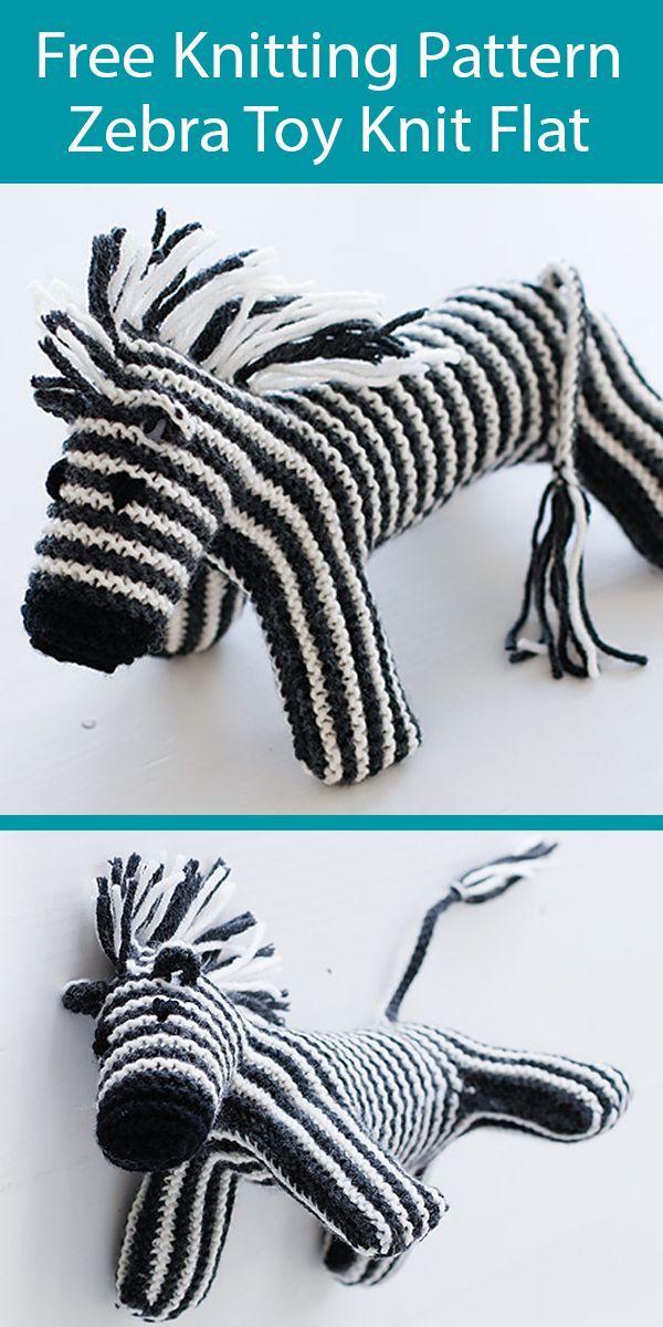 Free Knitting Pattern Zebra Toy Knit Flat in Garter Stitch ...