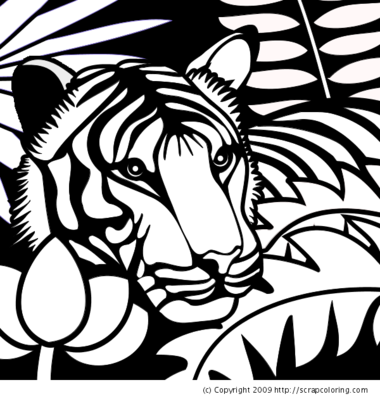 jungle book tiger coloring pages - photo#32