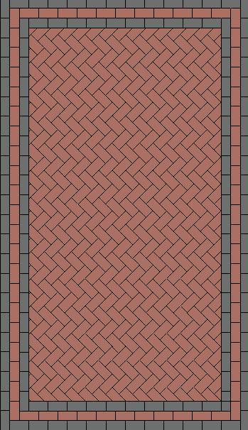 45 Degree Herringbone Paving Pattern Paving Stone Patio Block