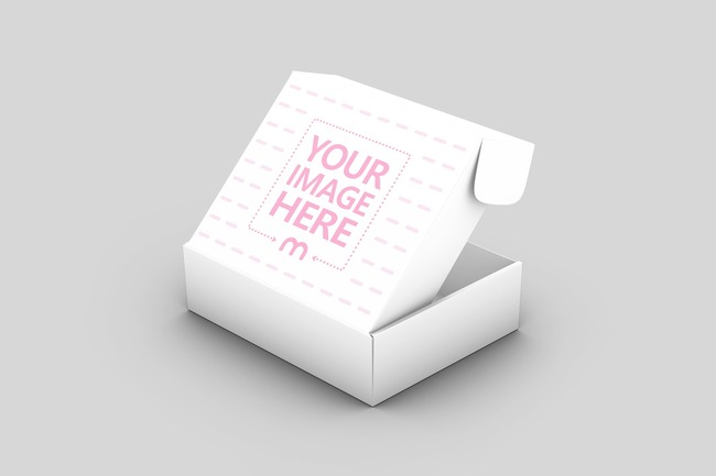 Download Mockup Template Featuring A Paper Mailer Shipping Box With The Lid Open Place Your Own Design Onto The Exterior Cover Of Box Mockup Paper Box Mockup Generator