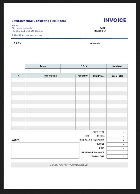Printable Blank Invoice Template Pdf Sample  HttpResumesdesign
