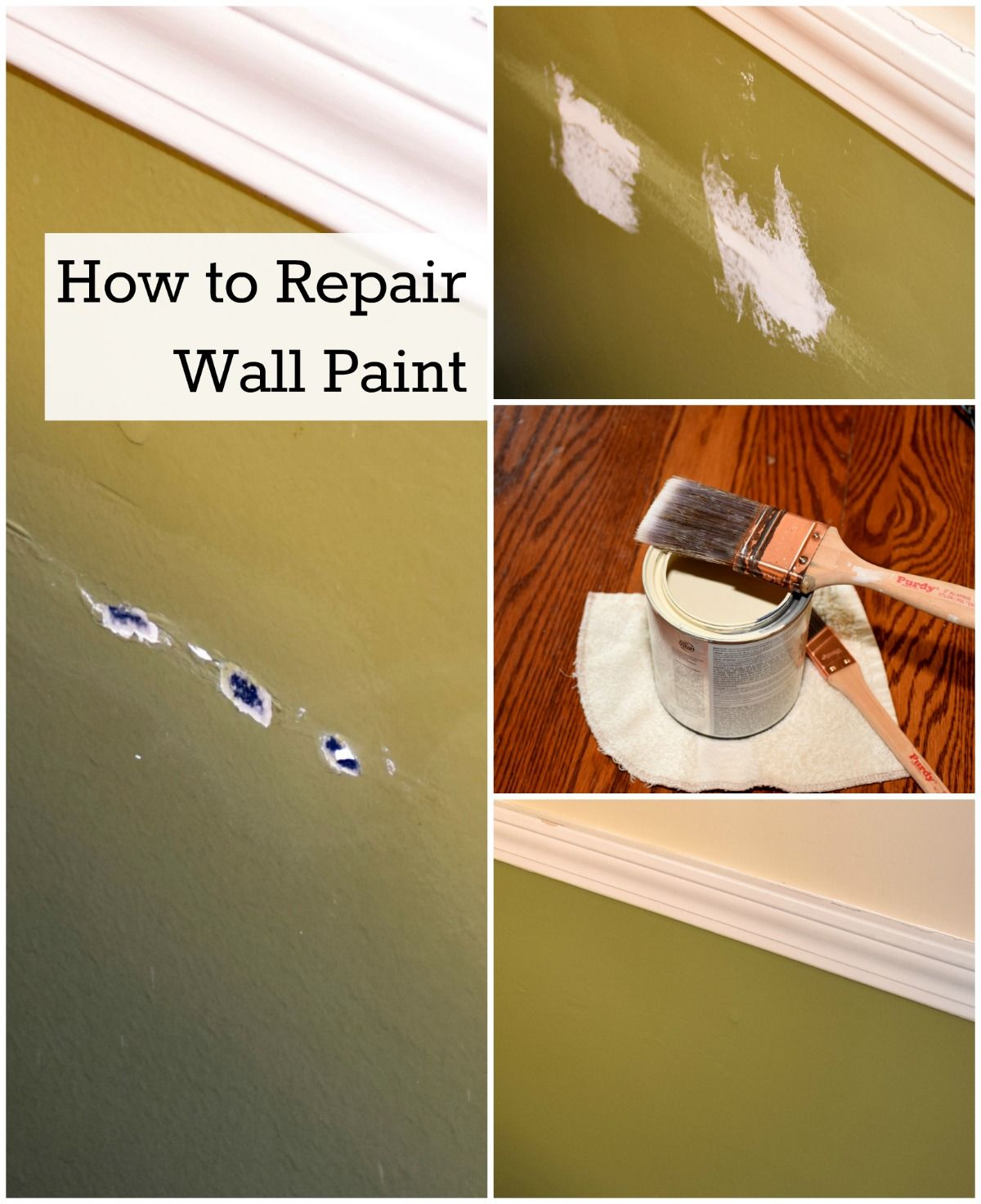 How To Touch Up Wall Paint Diy Wall Painting Wall Painting Paint Repair