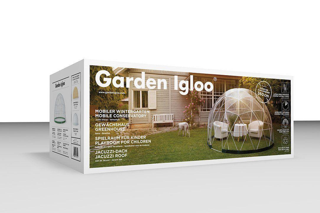 Mobiler Wintergarten garden igloo 360 סגירה לגינה garden igloo and gardens