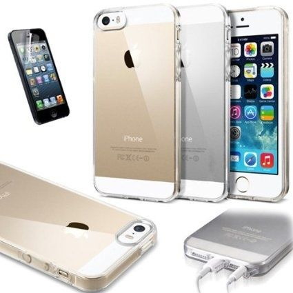 Perfect Balance of Protection and Purity of Design for your iPhone Buy #Transparent Ultra Thin Case #Cover For #iPhone 5 & 5s from MosKart only