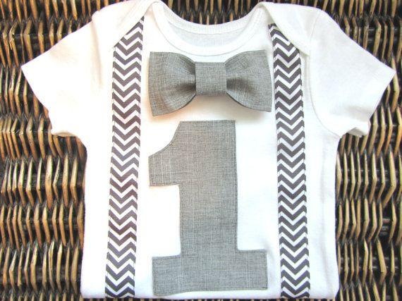 6e67493b70983 Boys First Birthday Outfit - Bow tie Suspenders - 1st Birthday Boy ...