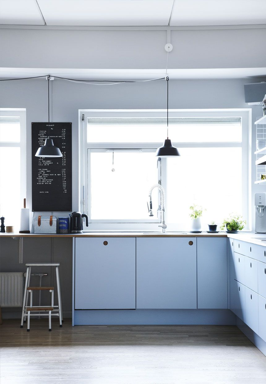 Dreamy blue shades in a Danish apartment (Daily Dream Decor ...