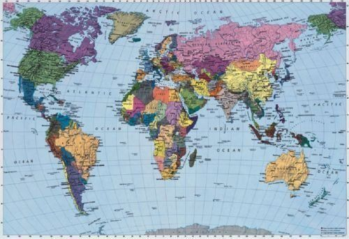 World map wallpaper mural komar httpamazondp world map wallpaper mural komar httpamazon gumiabroncs Images