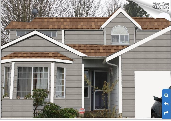 Exterior Paint Colors Brown Roof Google Search Dream Home In Rh Pinterest Com Grey Colored Siding
