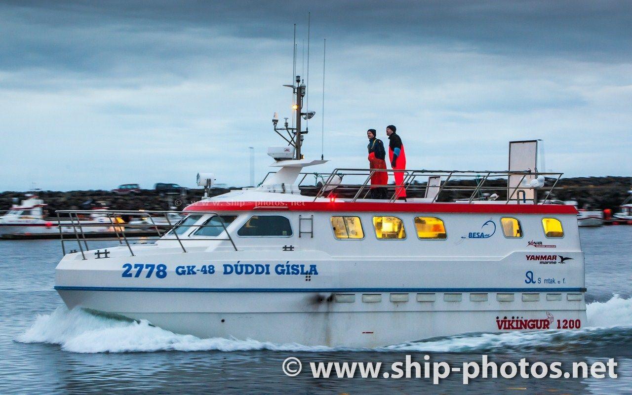 Commercial fishing boat 2778 Dúddi Gísla GK-48 with home port in Grindavik,  Iceland.