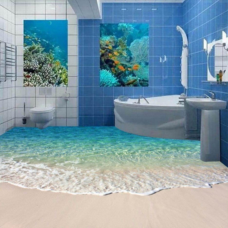 Innenarchitektur Tolles Badezimmer Deko Meer Boden Surfen
