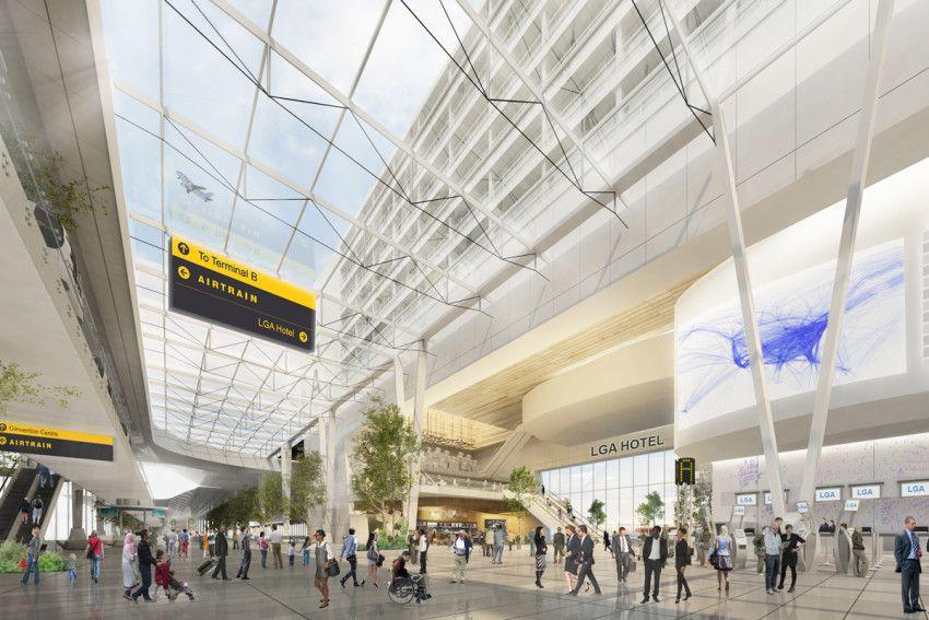 Laguardia Airport Terminal B Laguardia Airport Shop Architects Architect Magazine