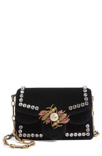 9e9810130 Gucci Broadway Bee Velvet Shoulder Bag | On-Trend Shoulder Bags For ...