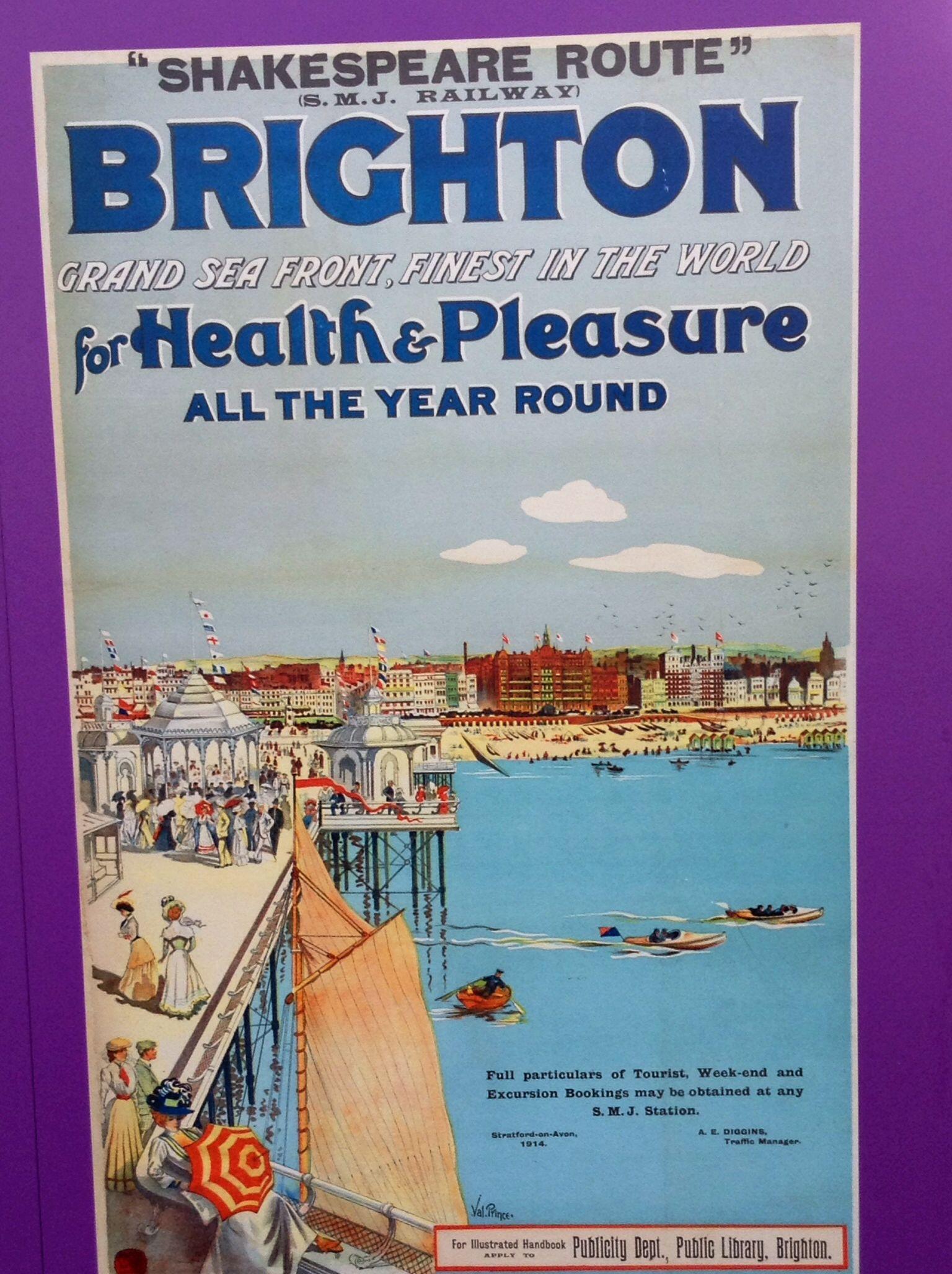 Vintage British Rail Brighton and Hove Railway Poster Print A3//A4
